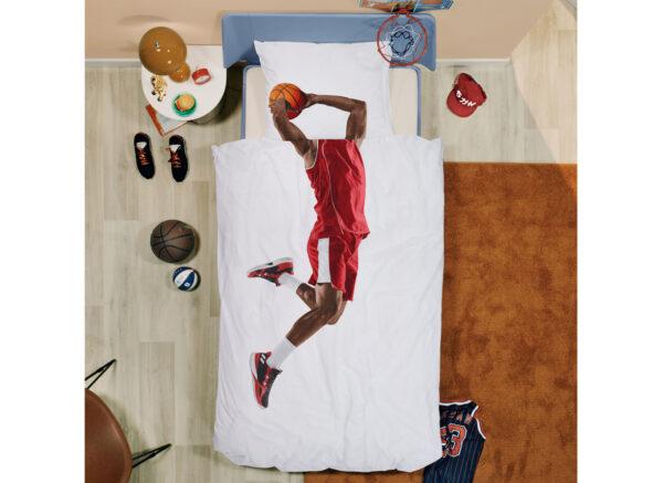 Snurk dekbedovertrek Basketball Star red