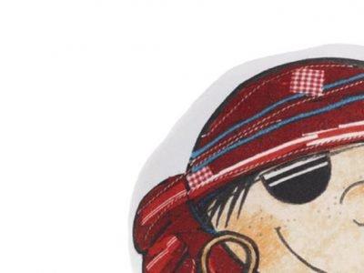 Beddinghouse sierkussen Pirate in Red