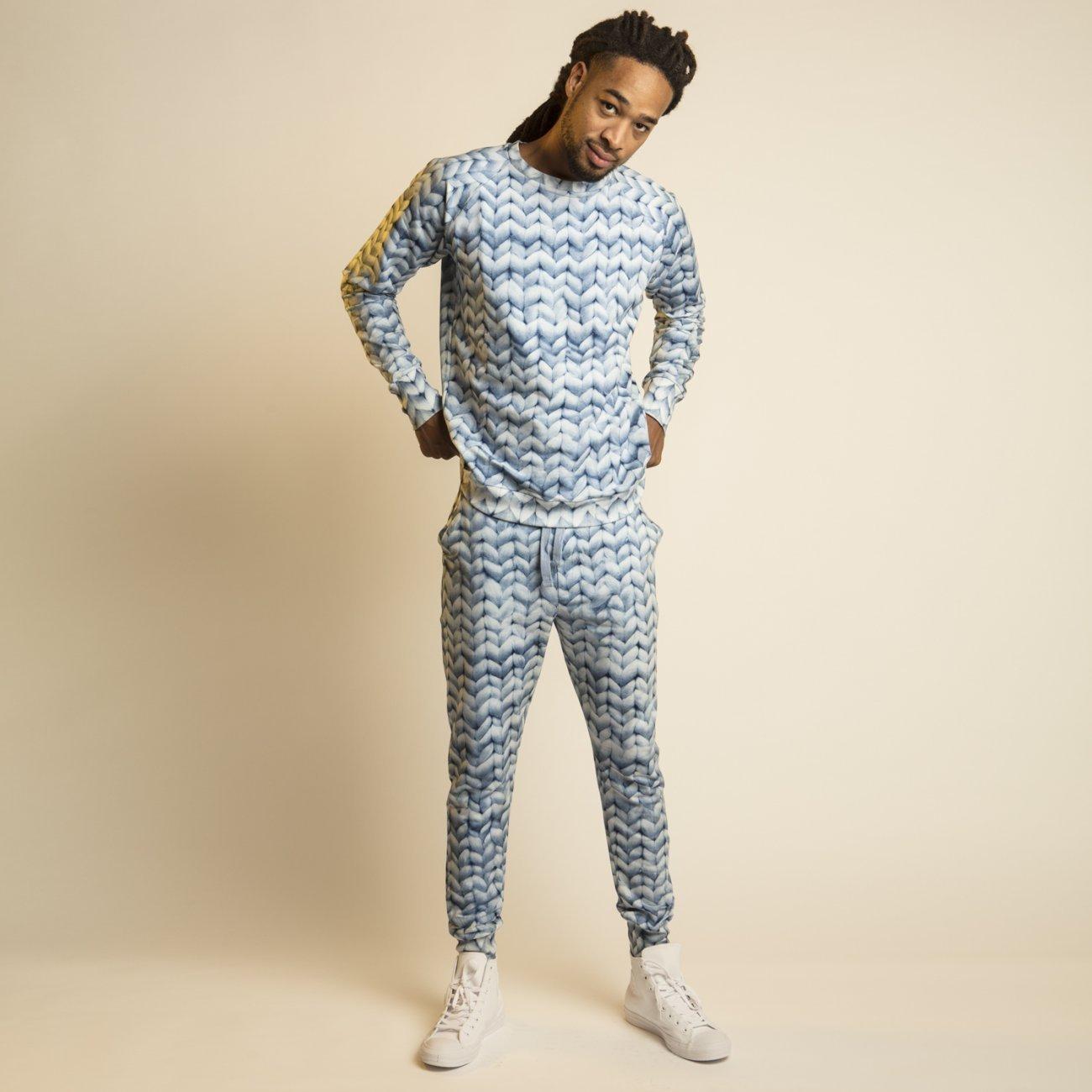 Snurk Homewear  Twirre blauw sweater heren