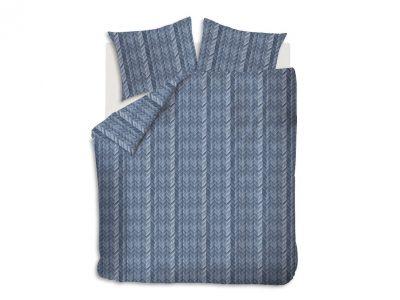 At Home dekbedovertrek Fold Blue
