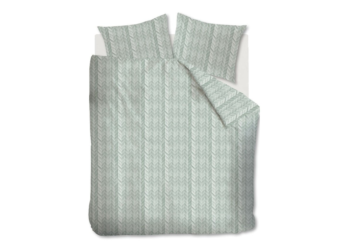 At Home dekbedovertrek Fold greygreen
