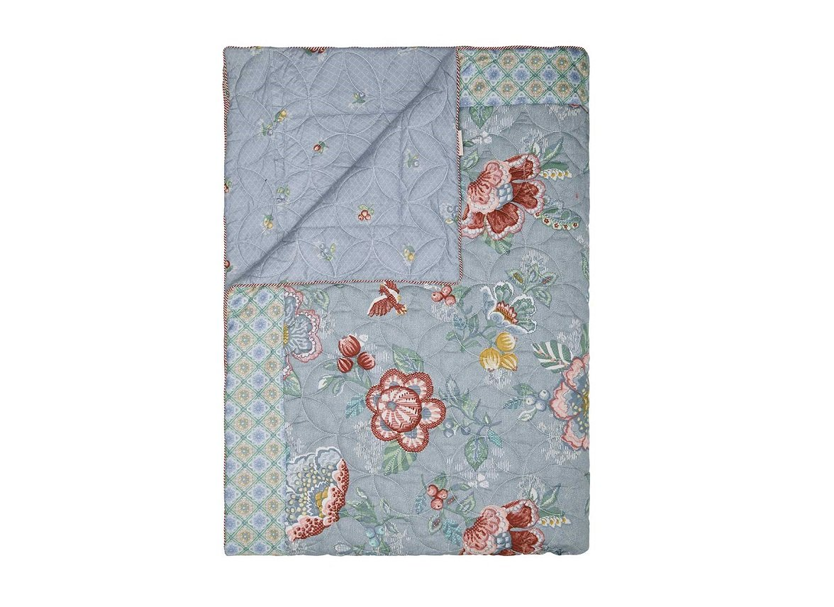 Pip Studio quilt Berry Bird blauw