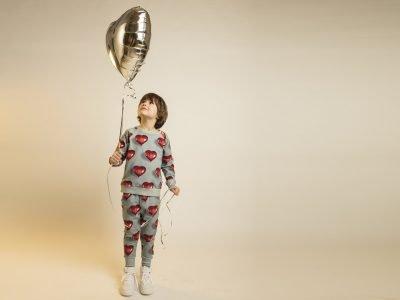 Snurk Homewear I Heart Balloon sweater kinderen
