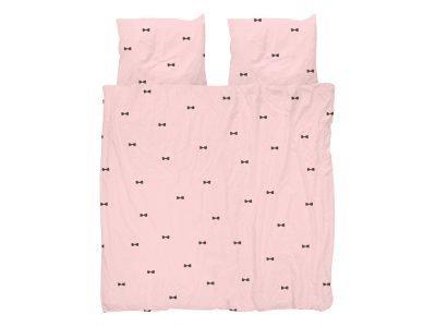 Snurk dekbedovertrek Bow Tie pink