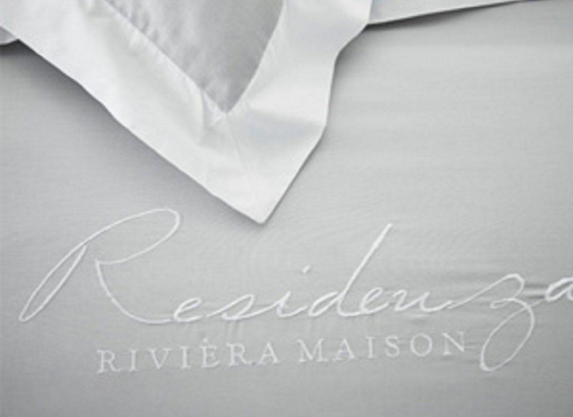Riviera Maison dekbedovertrek Residenza light grey