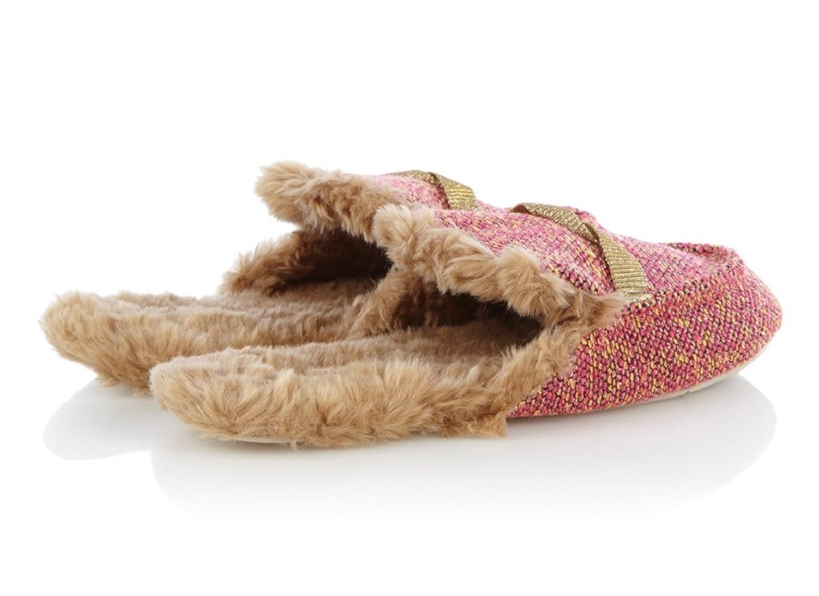 Ruby +Ed sloffen Golden Twist tweed loafer