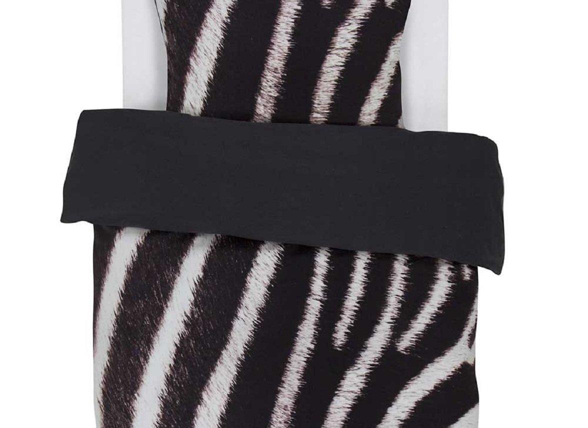 Essenza Home dekbedovertrek flanel Zebra antraciet