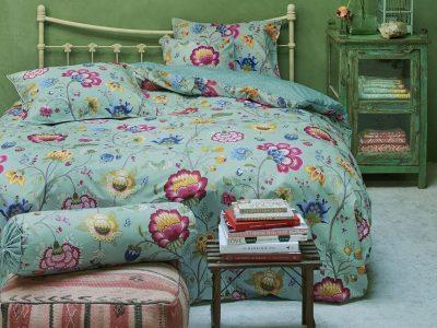 Pip Studio sierkussen Floral Fantasy ocean blue 45×45
