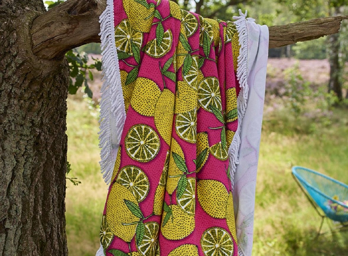 Covers & Co strandlaken Lemons multi
