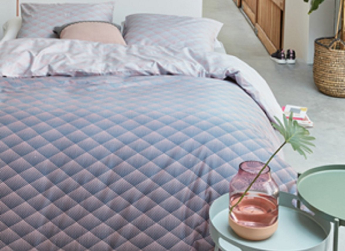Beddinghouse dekbedovertrek Vinz soft pink