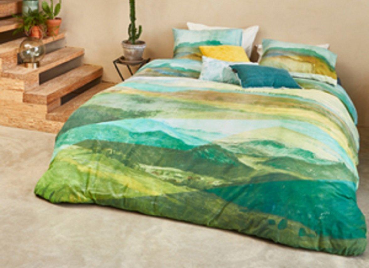 Beddinghouse dekbedovertrek Toscane green
