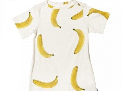 Snurk Homewear Bananas T-shirt dress kinderen