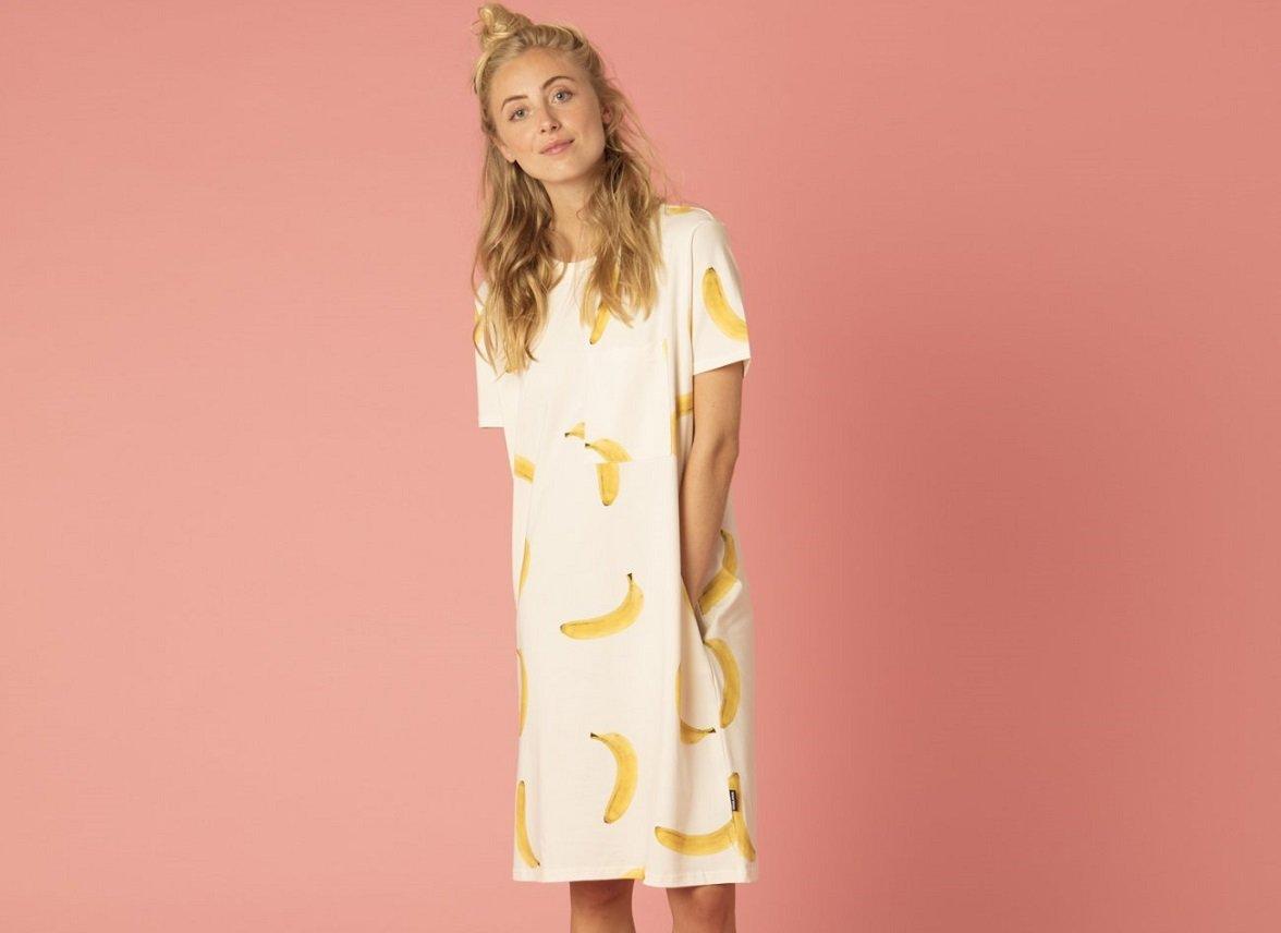 Snurk Homewear Bananas T-shirt dress dames