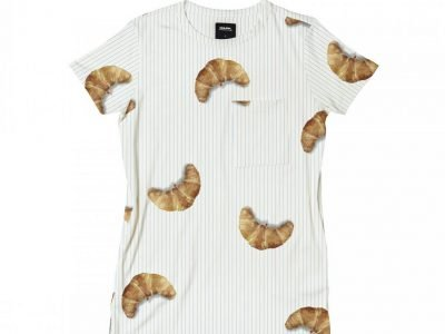 Snurk Homewear Croissant T-shirt dress kinderen