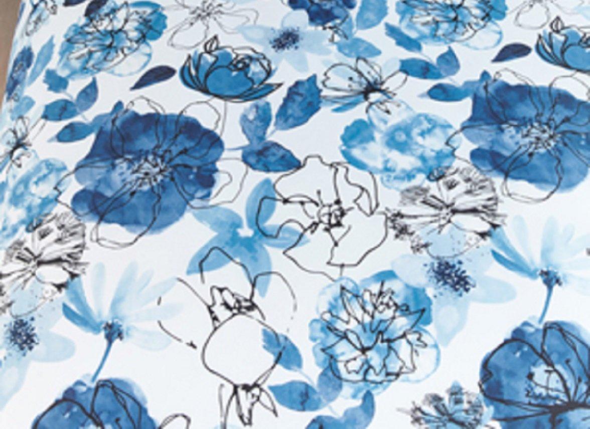 Beddinghouse dekbedovertrek Floral sketch blue