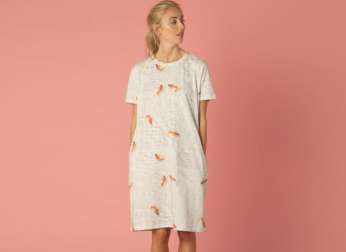 Snurk Homewear Goldfish T-shirt dress dames