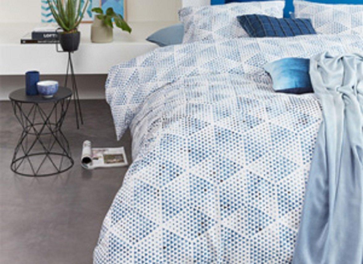 Beddinghouse dekbedovertrek Jitte blue