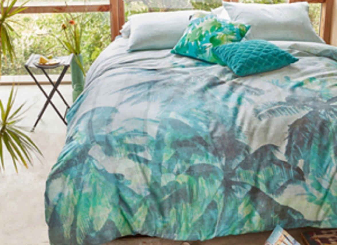 Beddinghouse dekbedovertrek Palmera green