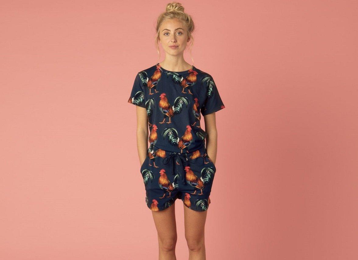 Snurk Homewear Rooster T-shirt dames