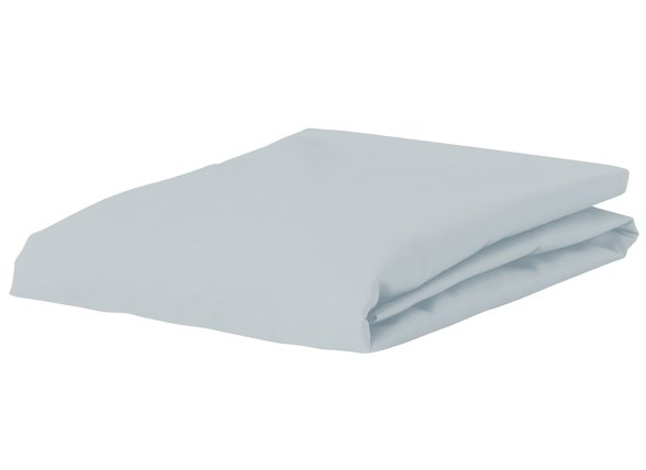 Morph Design perkal hoeslaken 200tc, licht blauw