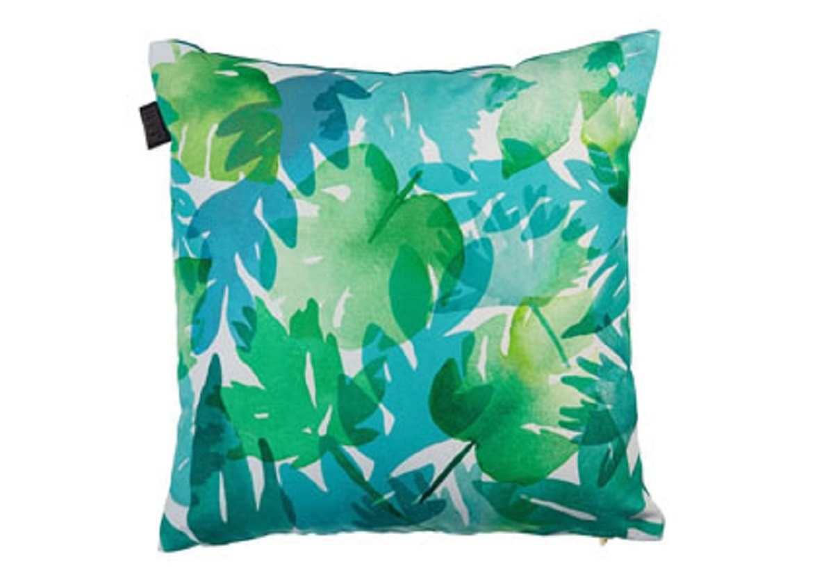 Kaat sierkussen Tropical plants blue green