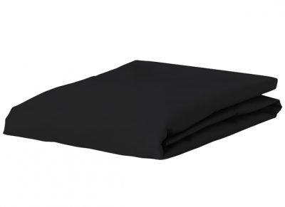 Morph Design satijn hoeslaken 300tc, zwart