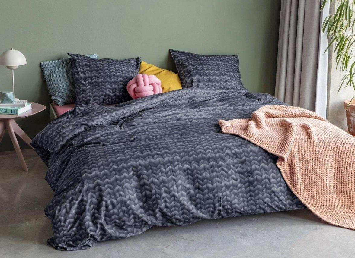 Aanbieding: snurk dekbedovertrek flanel twirre grijs lits jumeaux xl