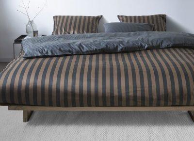Marc O'Polo dekbedovertrek Classic Stripe marine/earth brown
