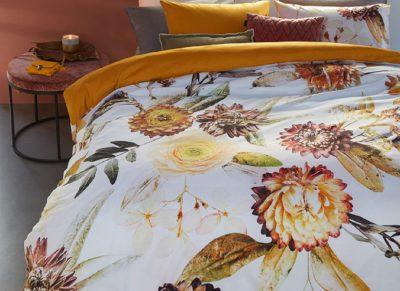 Beddinghouse dekbedovertrek Fall Bouquet ocre