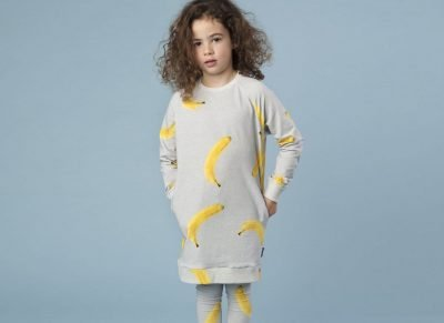 Snurk Homewear Banana sweater dress kinderen