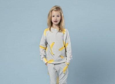 Snurk Homewear Banana sweater kinderen
