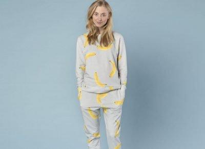 Snurk Homewear Banana sweater dames