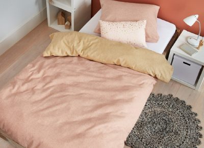 Beddinghouse dekbedovertrek flanel Boet soft pink