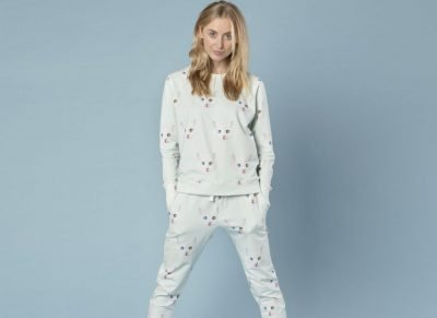 Snurk Homewear Crazy Cat Eyes sweater dames