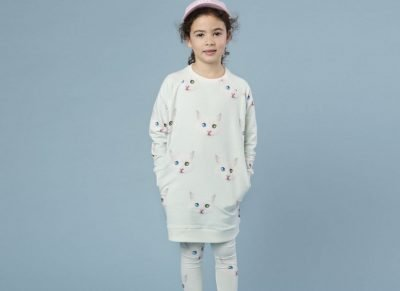 Snurk Homewear Cat Eyes sweater dress kinderen
