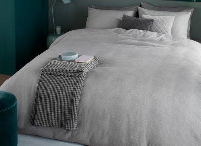 Beddinghouse dekbedovertrek flanel Frost light grey