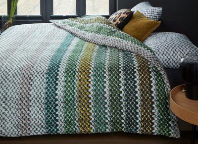 Beddinghouse dekbedovertrek flanel Jarno green