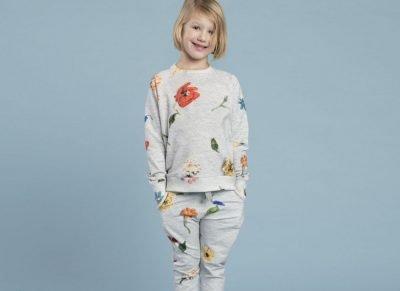 Snurk Homewear Knitted Flowers sweater kinderen
