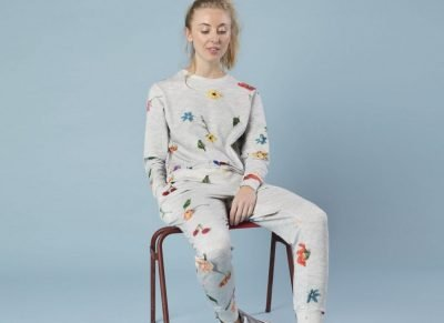 Snurk Homewear Knitted Flowers sweater dames