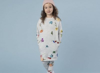 Snurk Homewear Knitted Flowers sweater dress kinderen