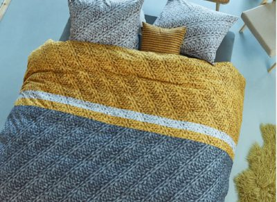 Beddinghouse dekbedovertrek flanel Merino gold