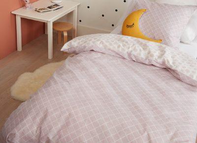 Beddinghouse dekbedovertrek Nolah soft pink