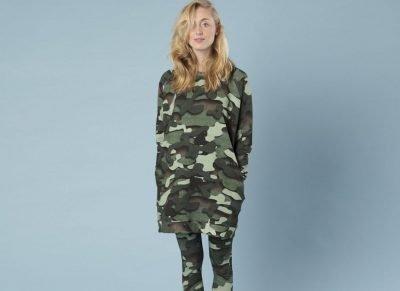 Snurk Homewear Paper Jungle sweater dress dames