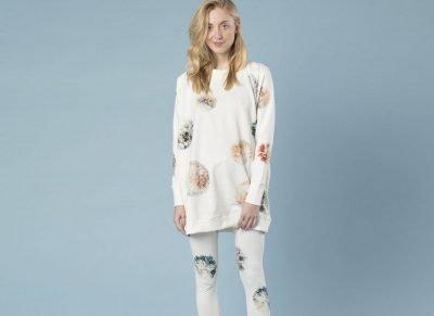 Snurk Homewear Pompom sweater dress dames