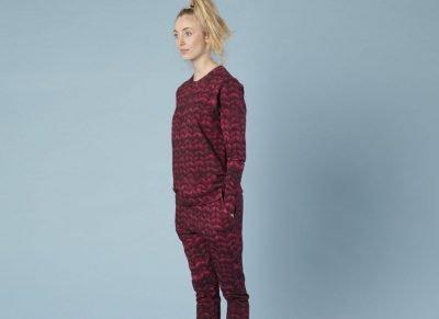 Snurk Homewear Twirre burgundy red broek dames