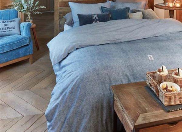 Riviera Maison dekbedovertrek Gingham blue