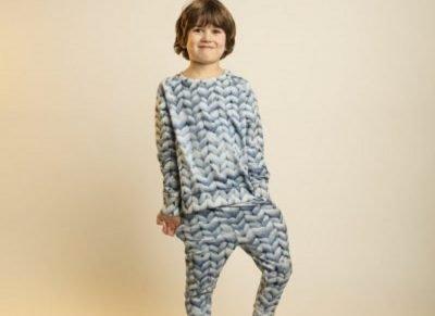 Snurk Homewear  Twirre blauw sweater kinderen