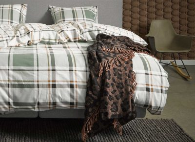 Essenza Home dekbedovertrek flanel Novan green