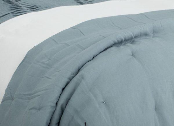 Flamant plaid Petrol Natural Linen