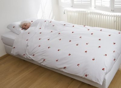 Snurk dekbedovertrek flanel Mushroom white